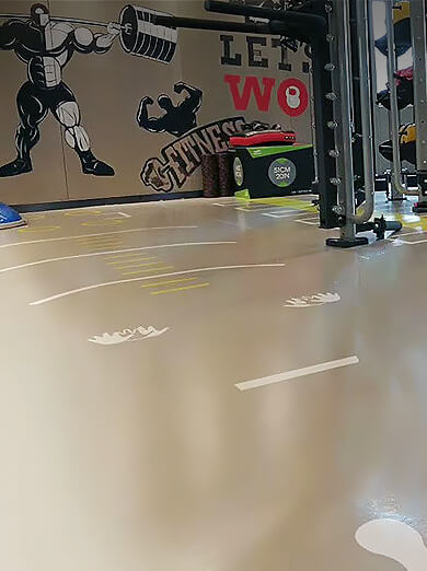 健身房PVC地板解决方案