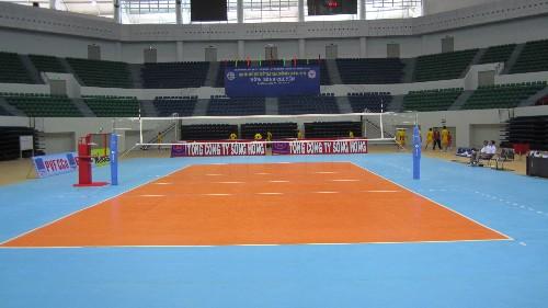 宝石纹运动地板在排球场地的应用
