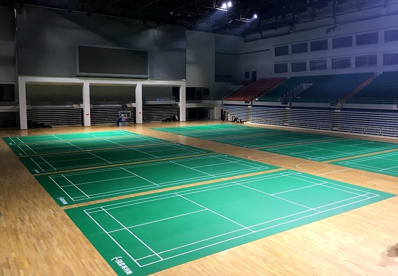 安徽阜阳市清河西路体育中心(10片场地英利奥5.0mm水晶沙)