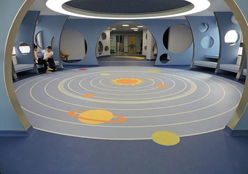 圆形拼接塑胶地板