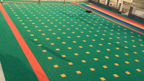 户外悬浮地板推进幼儿园环境创设