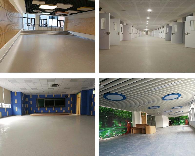 外国语学校塑胶地板2
