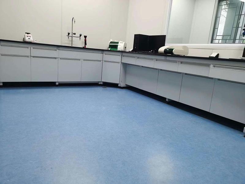海陵区江苏现代畜牧科技园博凯PVC复合地板铺设效果图1