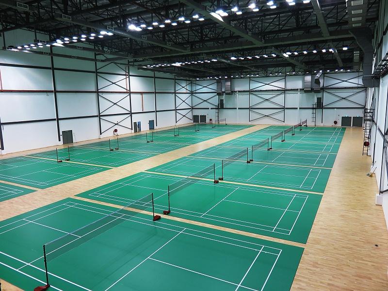 南京莱奥羽毛球馆英利奥运动地板铺设效果图