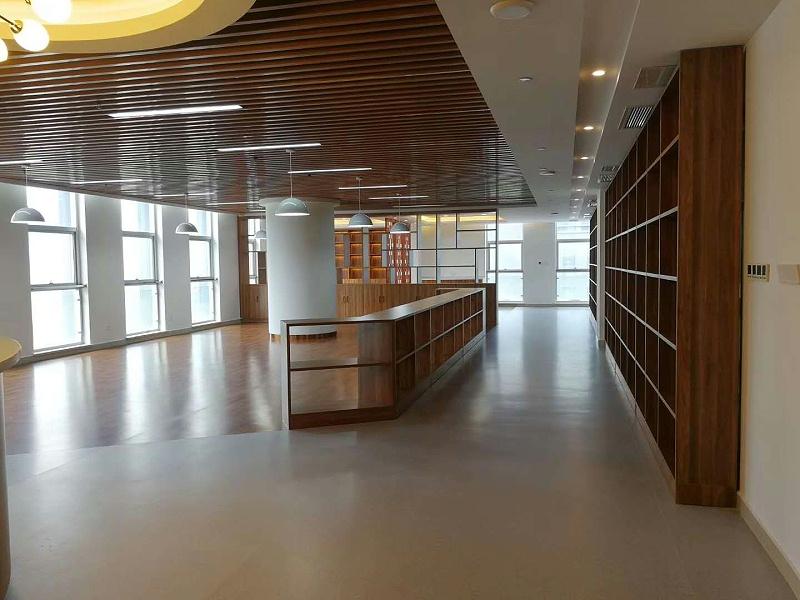 医药高新区人民法院廉政文化展厅博凯PVC复合地板铺设效果图5