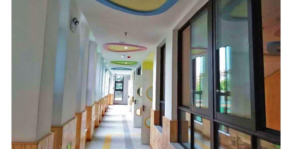【时代城童蕾蓝天幼儿园】LG塑胶地板案例效果