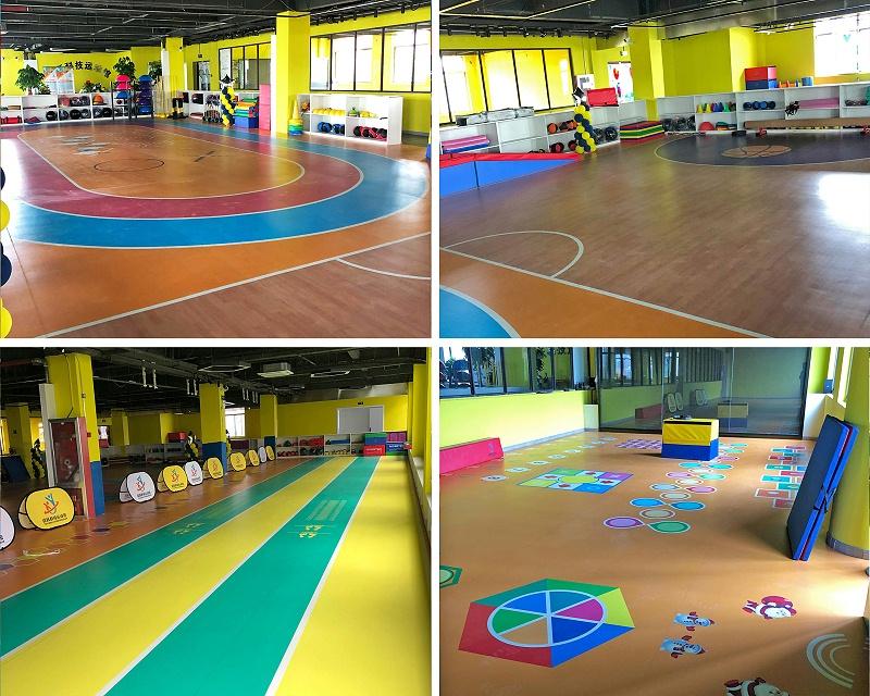 体能馆塑胶地板-拼图