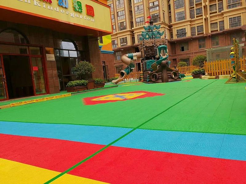 姜堰区原点幼婴室外悬浮地板铺设悬浮地板效果图