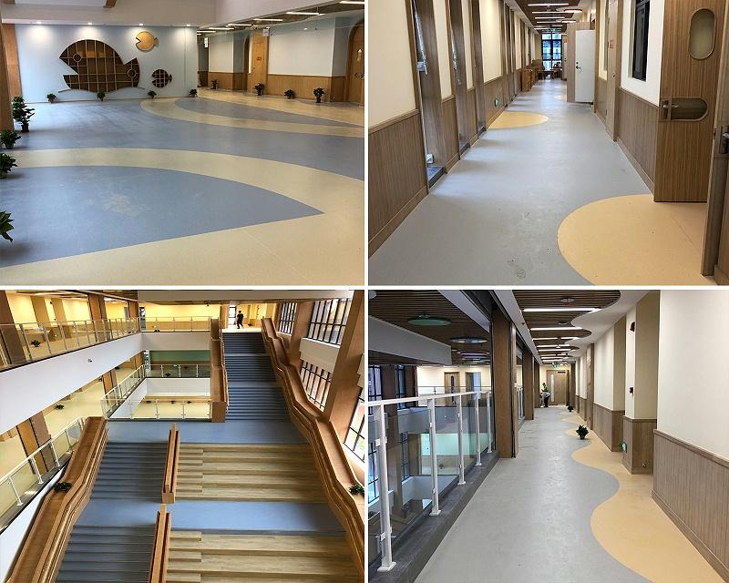 海安幼儿园塑胶地板效果