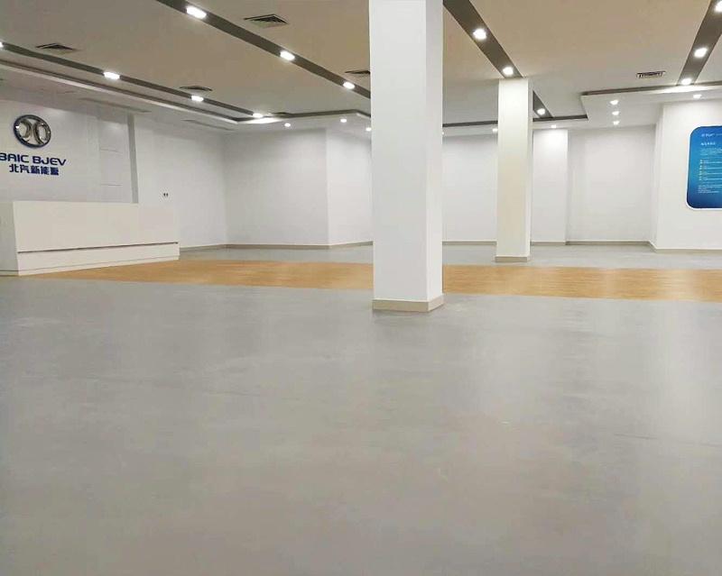 汽车城PVC地板展厅用