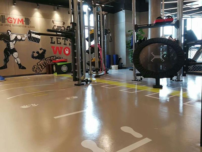 海陵区光猪圈健身会所360定制地板铺色效果图6