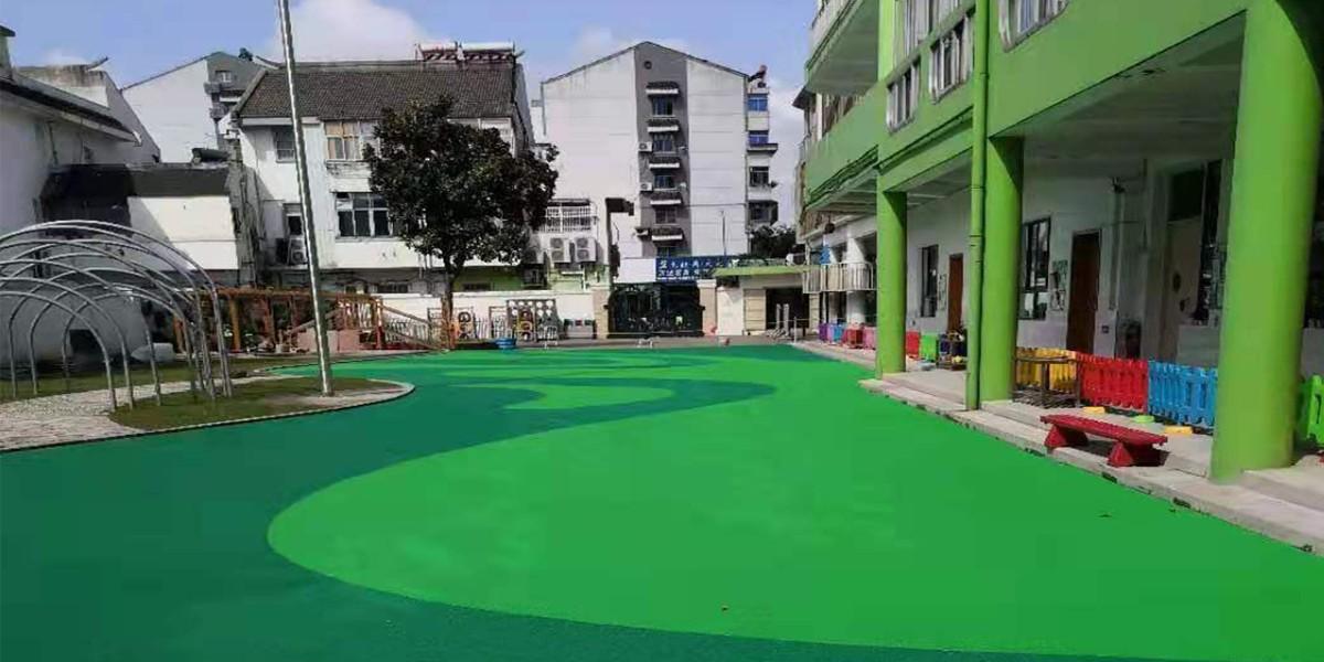【泰州市幼儿园】塑胶跑道铺装案例