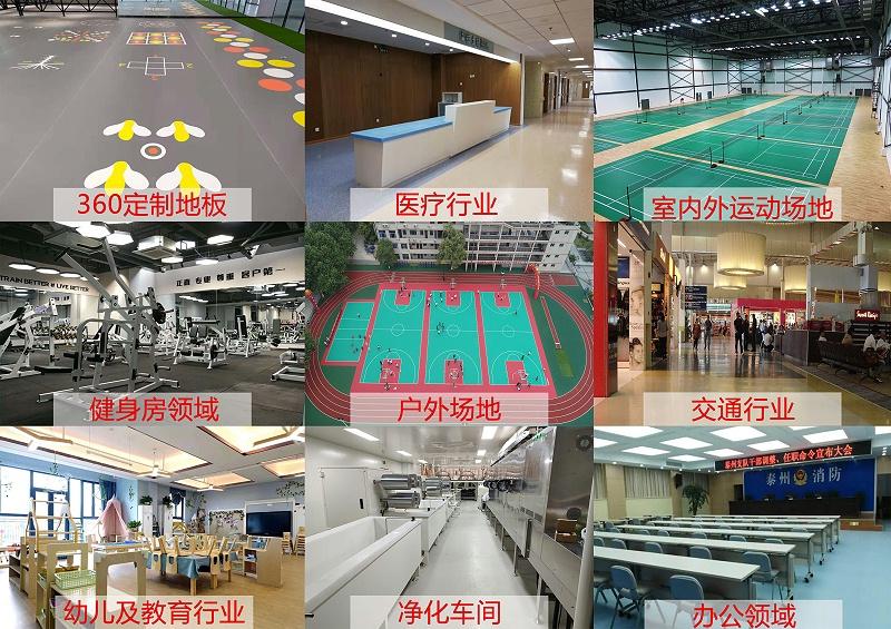 PVC地板涉及领域