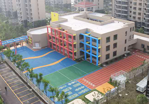 高新区野徐康居幼儿园EPDM塑胶跑道铺设效果