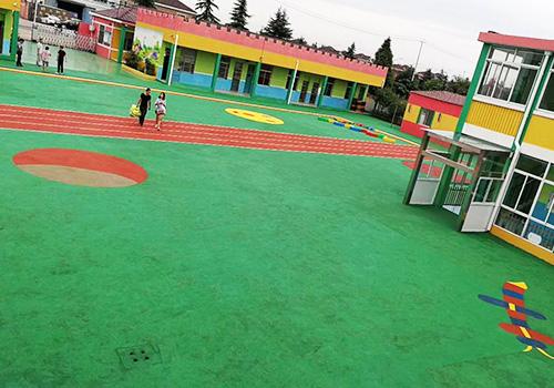 海陵区苏陈中心幼儿园室外EPDM塑胶跑道