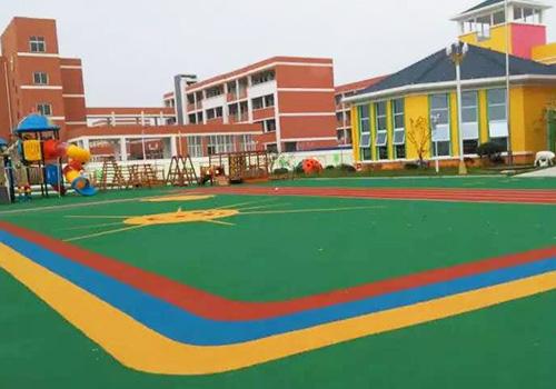 姜堰开发区幼儿园室外EPDM塑胶跑道