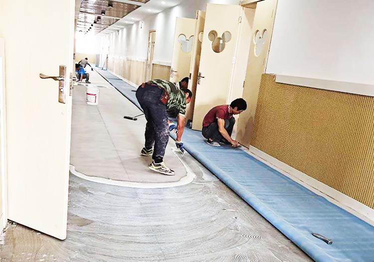 凤城橡塑幼儿园施工现场