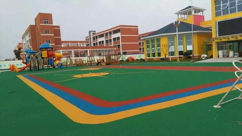 姜堰开发区幼儿园室外EPDM铺设效果图