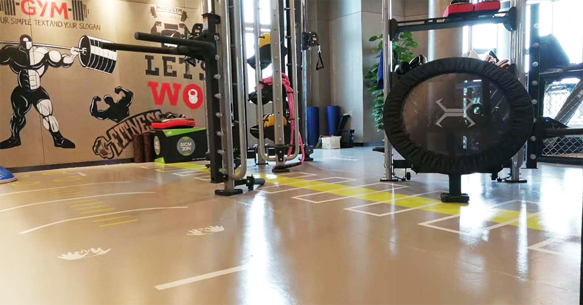 健身房PVC地板应用