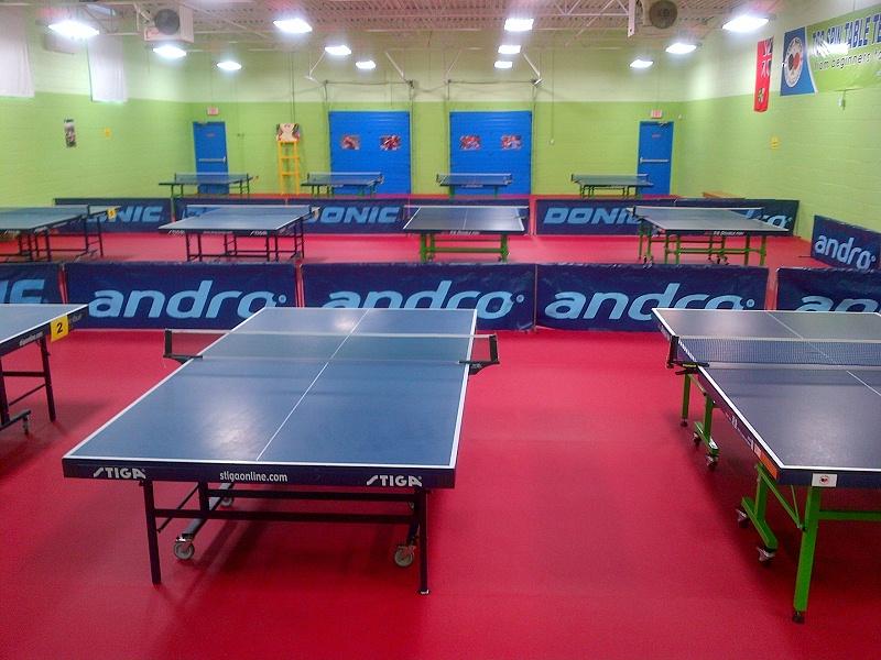 加拿大多伦多乒乓球地胶俱乐部