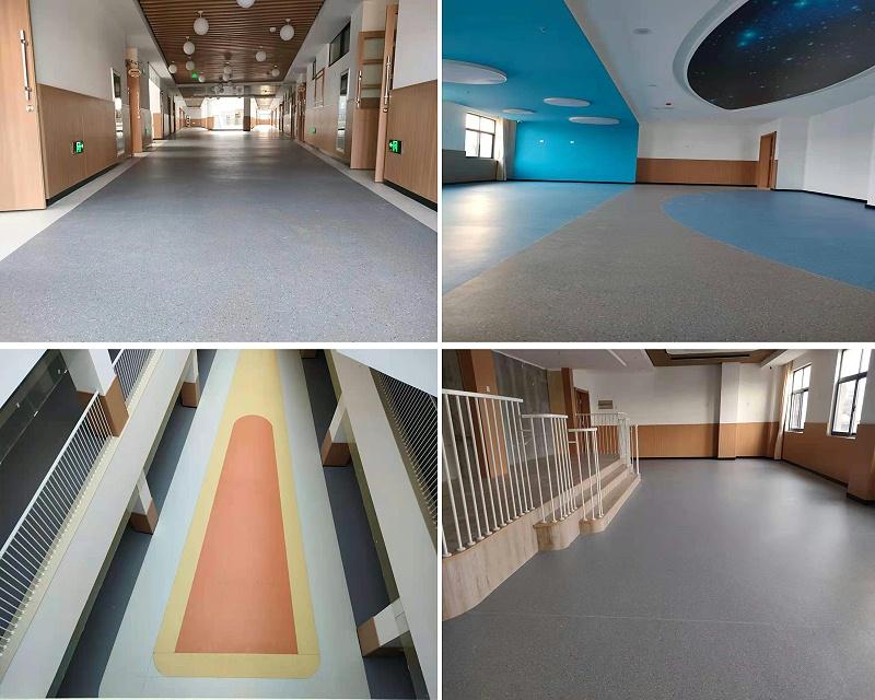 柴墟幼儿园同质透心塑胶地板