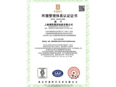 凤城橡塑-博凯环境管理体系认证1