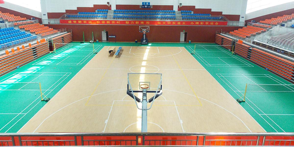 河南省南阳理工大学艾力特篮球场PVC运动地板应用案例
