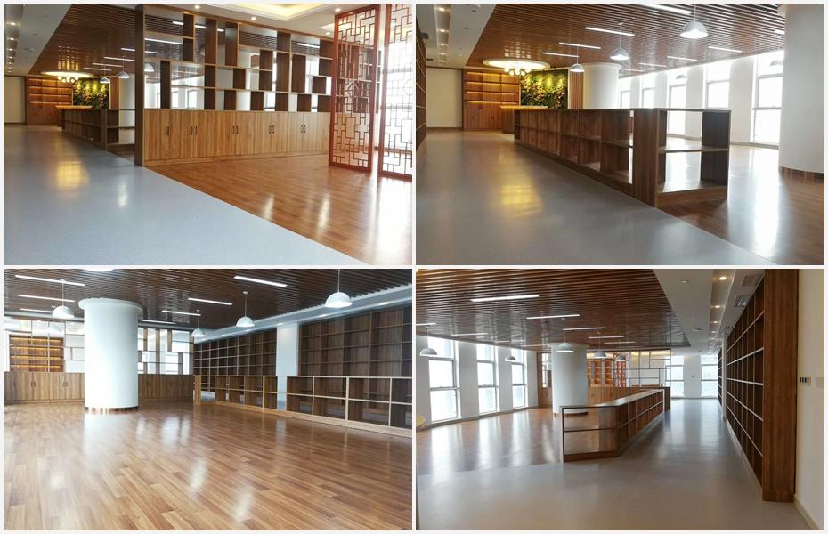 高新区人民法院廉政文化展厅博凯PVC复合地板铺设案例