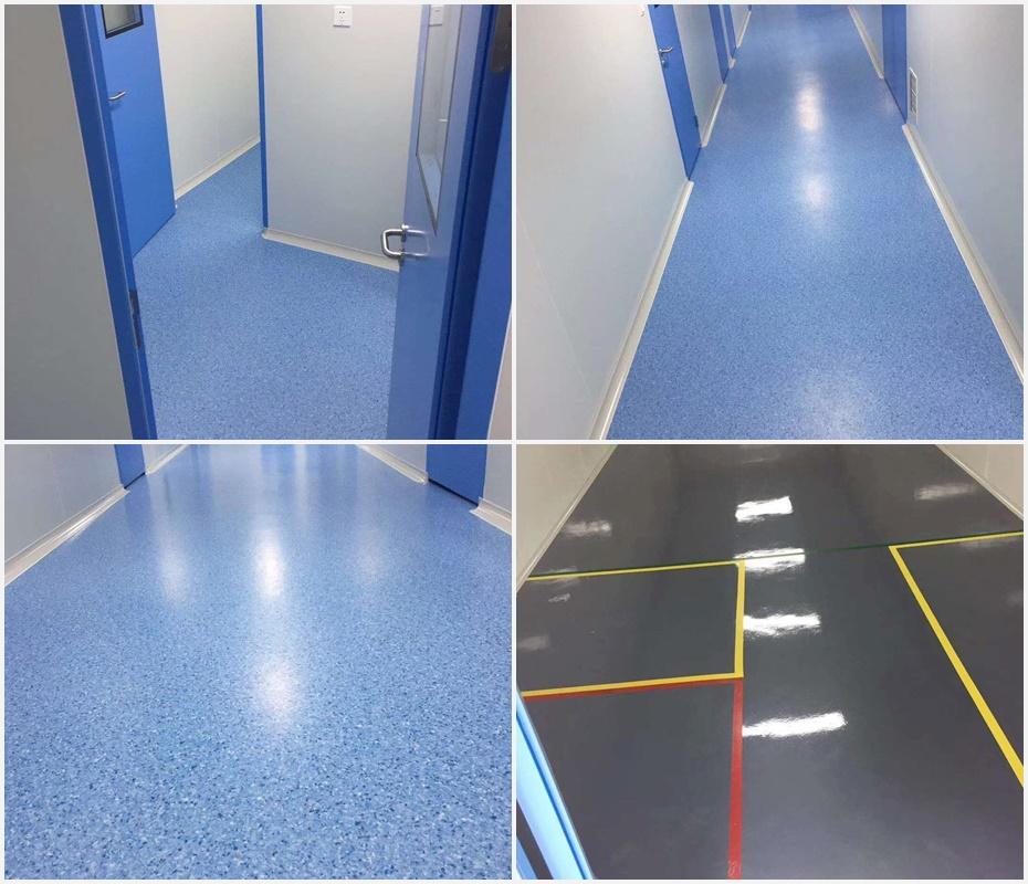 泰州市中国医药城五期厂房车间PVC地板铺设案例