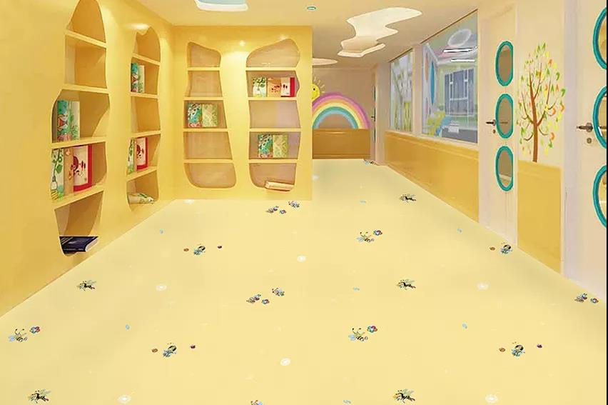 博凯复合地板快乐的小蜜蜂系列案例1